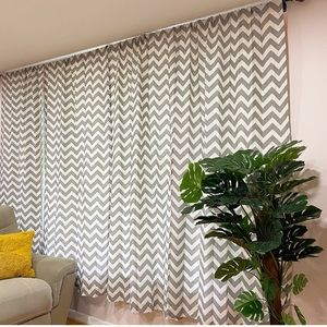 Urban Outfitters Gray Chevron Curtains (2)